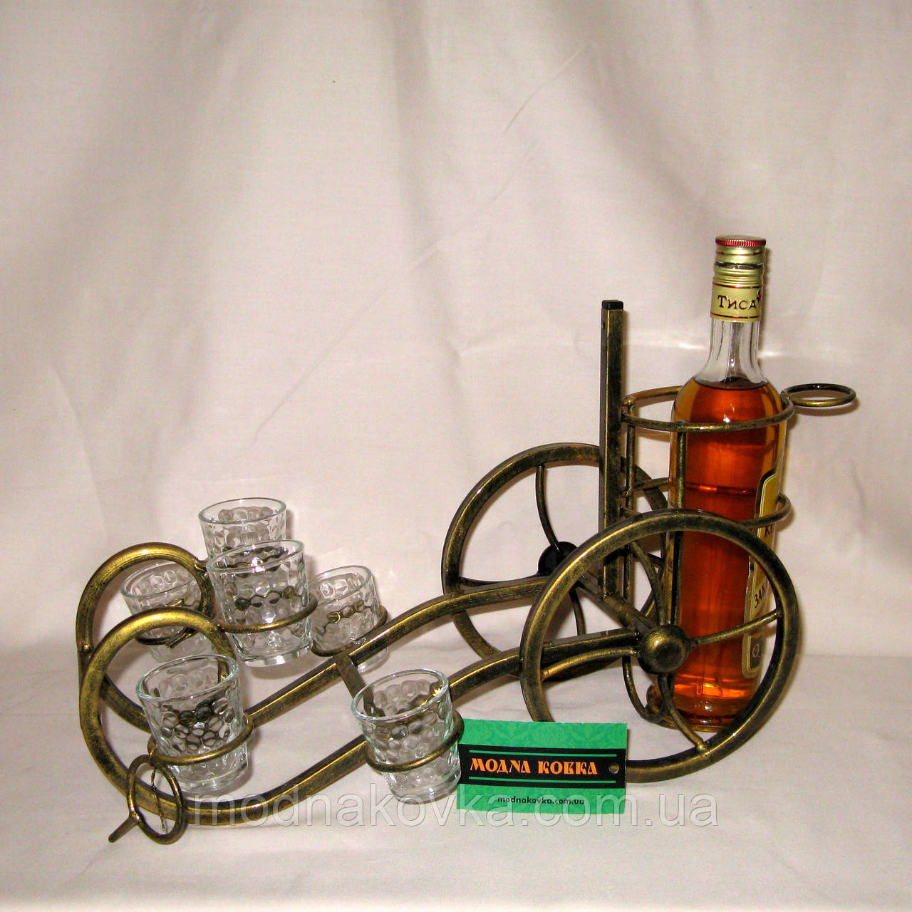 Мини-бар 11 с рюмками кованый (подставка под бутылку)  Пушка