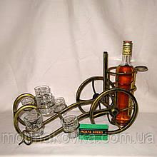 Мини-бар №11 с рюмками кованый Пушка