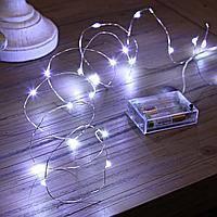 Гирлянда светодиодная нить роса 4,5 м Холодный белый, фото 3