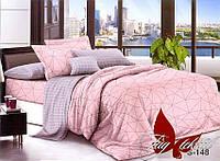 Комплект постельного белья с компаньоном S-148 семейный (TAG satin (sem)-148)