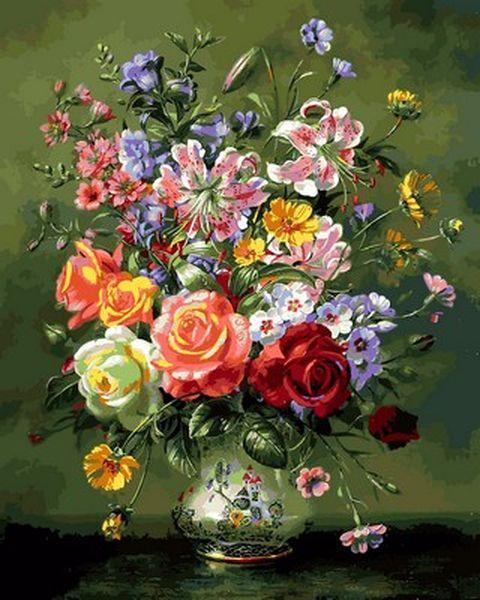 Розмальовки для дорослих 40×50 див. Квіткова композиція Художник Альберт Вільямс