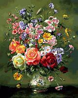Розмальовки для дорослих 40×50 див. Квіткова композиція Художник Альберт Вільямс, фото 1