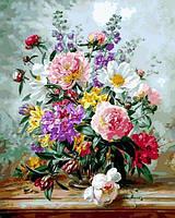 Раскраски для взрослых 40×50 см. Пионы и смешанные цветы Художник Альберт Уильямс, фото 1