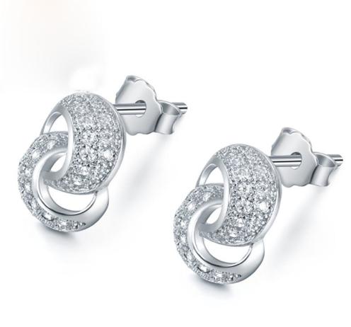 Серебряные серьги Лассо из стерлингового серебра 925 пробы (код 0087)