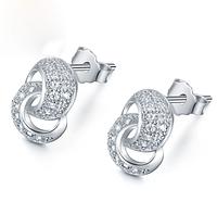Серебряные серьги Лассо из стерлингового серебра 925 пробы (код 0087), фото 1