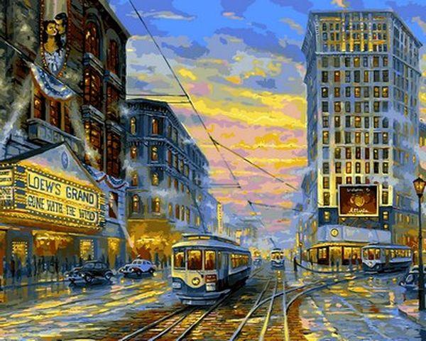 Рисование по номерам 40×50 см. Атланта 1939 Художник Роберт Файнэл