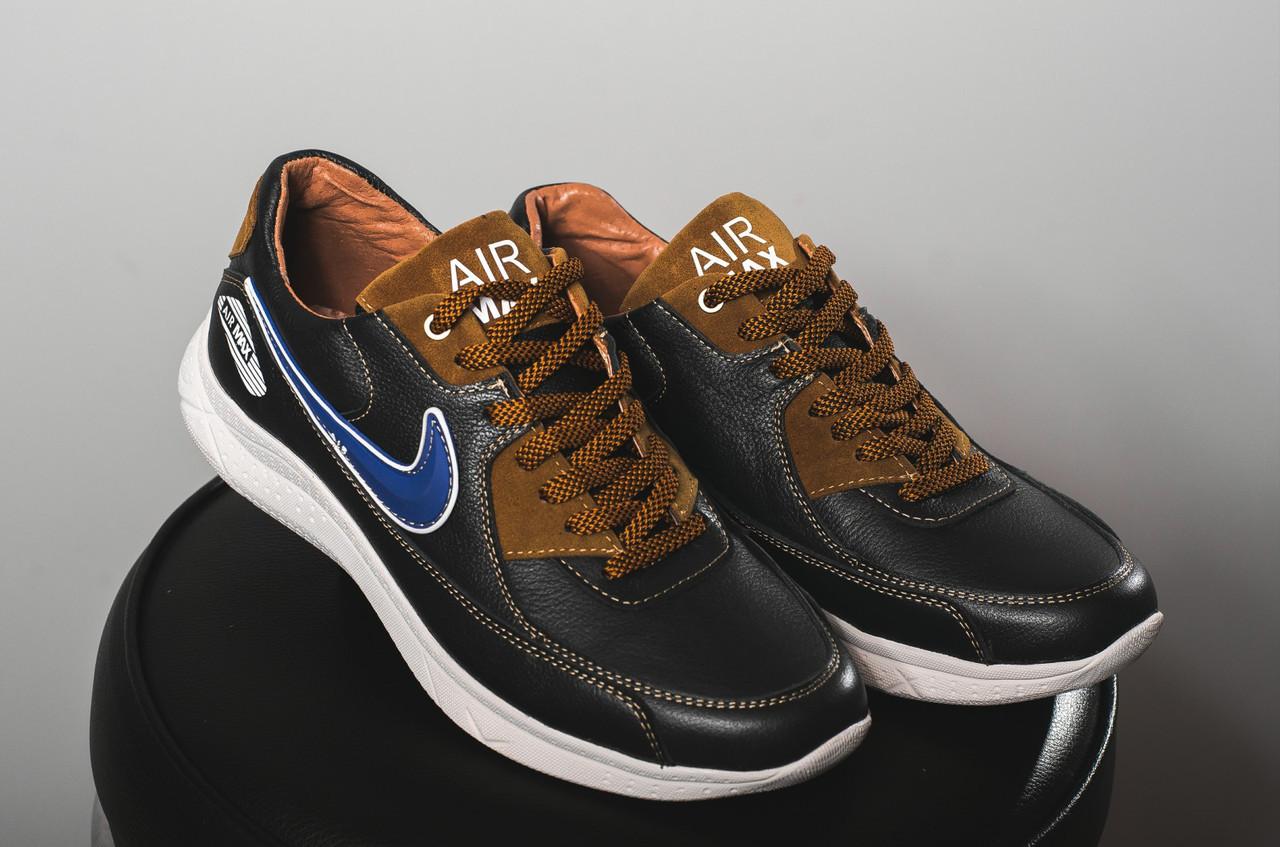 Кроссовки Yuves Rex-Nike (весна-осень, мужские, кожа)
