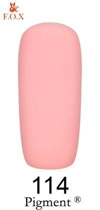 Гель-лак F.O.X Pigment 114 (бледный пурпурно-розовый, эмаль),6 ml