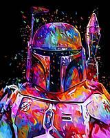 Раскраски по номерам 40×50 см. Боба Фетт Звёздные войны, фото 1