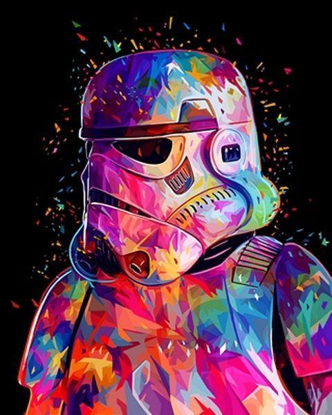 Раскраски по номерам 40×50 см. Штурмовик Империи Звёздные войны