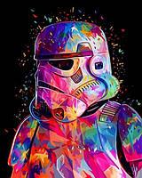 Раскраски по номерам 40×50 см. Штурмовик Империи Звёздные войны, фото 1