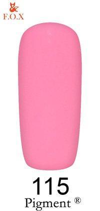 Гель-лак F.O.X Pigment 115 (розовый, эмаль),6 ml