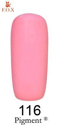 Гель-лак F.O.X Pigment 116 (блестящий пурпурно-розовый, эмаль),6 ml