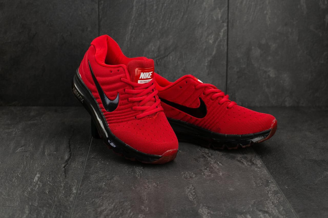 Кроссовки A 2017-5 (Nike AirMax 2017) (весна-осень, мужские, текстиль, красный)