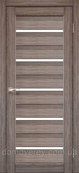 Двери межкомнатные,Korfad, Porto, PR-02, со стеклом сатин бронза/черное