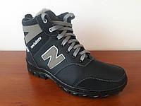 Мужские зимние кроссовки черные удобные на меху (код 4599), фото 1