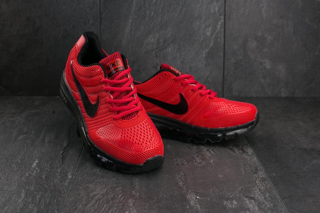 Кроссовки A 2017 KPU-2 (Nike AirMax 2017) (весна-осень, мужские, резина, красно-черный)