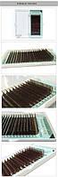Ресницы темно-коричневые NAGARAKU Mix от 7 до 15 мм, С 0.07, фото 1