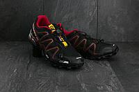 Кроссовки A 201-9 (Salomon Speed Cross 3) (весна-осень, мужские, резина, черно-красный), фото 1