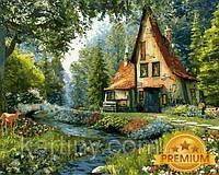 Картины раскраски по номерам 40×50 см. Babylon Premium Сказочный домик Художник Доминик Дэвисон, фото 1