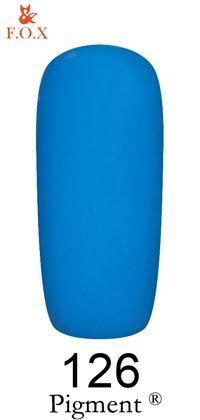 Гель-лак F.O.X Pigment 126 (цвет морской волны, эмаль),6 ml