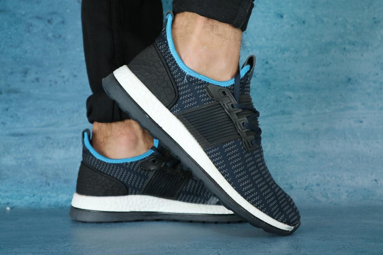 Кроссовки Classik 9320-4 (Adidas Brand) (весна-осень, мужские, текстиль, синий)