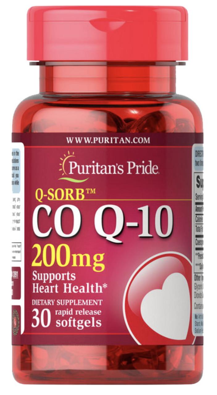 Puritan's Pride Q-SORB Co Q-10 200 mg 30 softgels, Коэнзим 200 мг 30 капсул