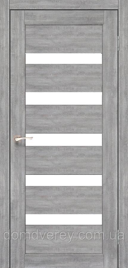 Двери межкомнатные,Korfad, Porto, PR-03, со стеклом сатин бронза/черное