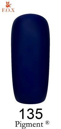 Гель-лак F.O.X Pigment 135 (тёмно-синий, эмаль),6 ml