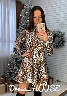 Шикарное платье с леопардовым принтом  OS-1218.003