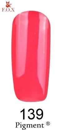 Гель-лак F.O.X Pigment 139 (скарлет, глянец),6 ml