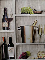 Обои виниловые на бумаге, 560211 Wine   для создания интерьера винного погребка на Вашей кухне 0,53*10