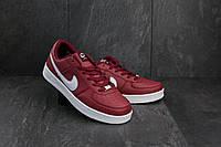 Кроссовки A 535-7 (Nike AirForce) (весна-осень, мужские, кожа прессованая, красно-белый), фото 1