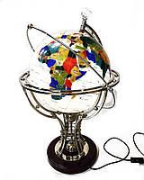 Декоративный глобус Decos из полудрагоценных камней с подсветкой 70 см