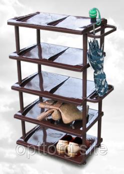 Этажерка для обуви 85х57х34 см с дополнительной полочкой Консенсус
