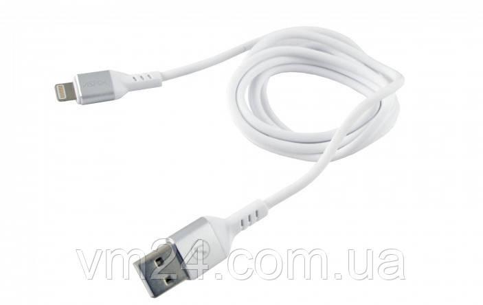 USB кабель Aspor Quick charge iPhone 5/5S/6/6.7.8 X Lightning Leather (1,2м 2.4А)