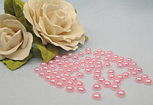 Полубусины жемчужные, 6 мм, цвет розовый, цена 7 грн - 160-170 шт