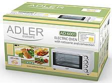 Мини печь электрическая ADLER AD6001 1500W 35L, фото 3