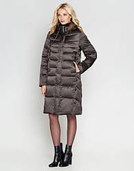 Женская зимняя куртка воздуховик Braggart Angel`s цвет капучино  модель 29775 размер 46 48 50 52 54 56 58 60