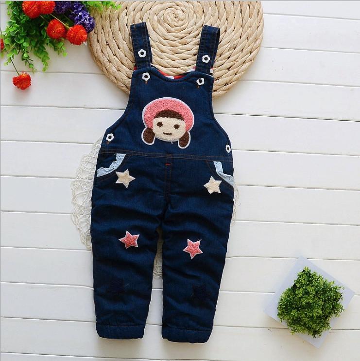 Комбинезон детский джинсовый утепленный на девочку 2 года