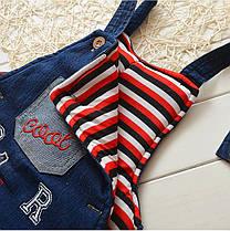 Комбинезон детский джинсовый утепленный на девочку 2 года, фото 3