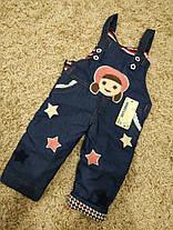 Комбинезон детский джинсовый утепленный на девочку 2 года, фото 2
