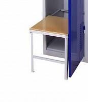 Скамейка для одежного шкафа СГ модель 7, размеры 370х360х400мм, выдвижная лавочка для одежного шкафа