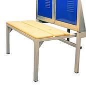 Скамейка для одежного шкафа СГ модель 11, размеры  370х800 мм, выдвижная лавочка для одежного шкафа