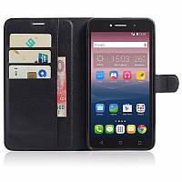 Чехол-книжка Litchie Wallet для Alcatel One Touch Pixi 4 8050D Черный