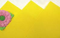 Фетр Желтый Жесткий (Китай) 1 мм 20 на 30 см