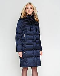 Женская зимняя куртка воздуховик Braggart Angel`s цвет темно-синий модель 29775 размер 46 48 50 52 54 56 58 60