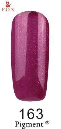 Гель-лак F.O.X Pigment 163 (темная черешня с микроблеском),6 ml
