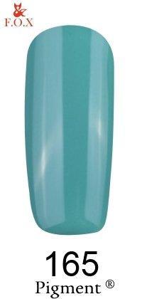 Гель-лак F.O.X Pigment 165 (бирюзово-синий, глянец),6 ml