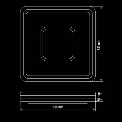 Светильник 90Вт светодиодный SMART SML-S02-90 3000-6000K с пультом, фото 2